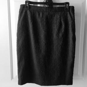 Dana Buchman lace pattern pencil skirt size 8 NWOT